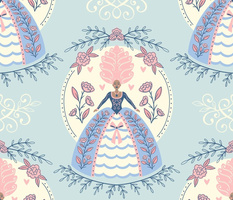 Like a Queen - Large Scale Blue Pink