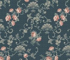 Rococo Roses - Medium - Blue