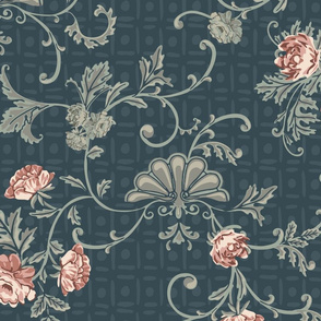 Rococo Roses - Large - Blue
