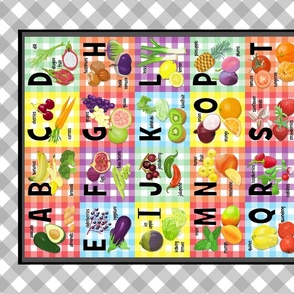 Veggie Alphabet tea towel