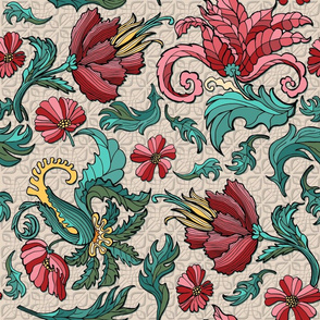 Rococo Floral, Table cloth size