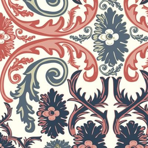 Rococo Ornamental 18th Century Vintage Pattern