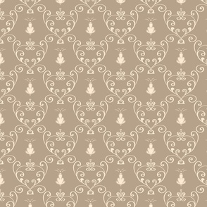 Beige rococo pattern