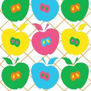 Mod Dancing Apples Checkered Picnic