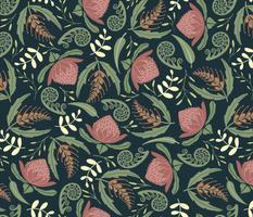 Australian Rococo fern scrolls