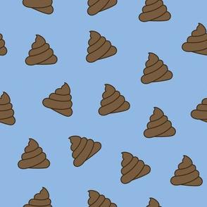 Poop Emoji Blue - M