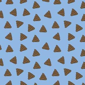 Poop Emoji Blue - S