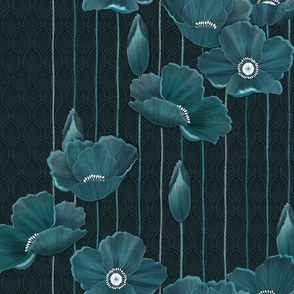Teal Poppies version 2 small