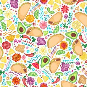 Taco Fiesta on White