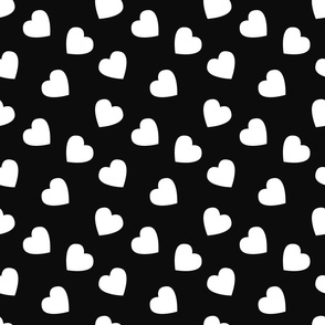 Hearts_ black and white