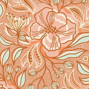 Pastel Rococo flower dream / Medium scale