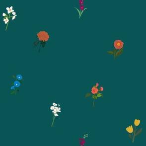 Language of Flowers Teal