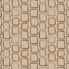 chocolate on tan geometrical watercolor pattern p122
