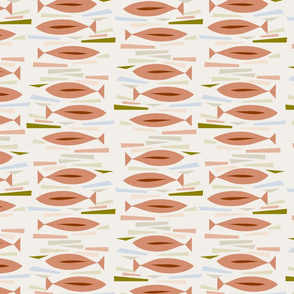 MCM Fishies Collage Abstract-Earth