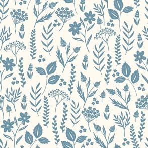 Blue Flowerbed-Light