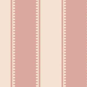 Stripe - Rococo - Large- Rose, Pale Rose