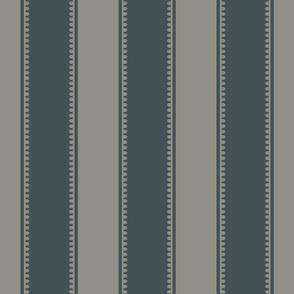 Stripe - Rococo - Medium - Sage, Light Midnight Blue