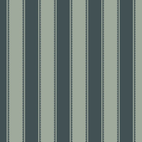 Stripe - Rococo - Small - Soft Green, Light Midnight
