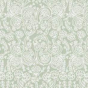 Batik Rococo Sage