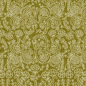 Batik Rococo  Olive