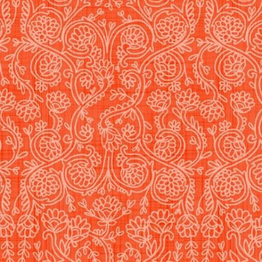 Batik Rococo  Coral