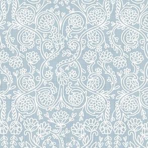 Batik Rococo Baby Blue