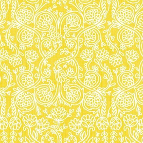 Batik Rococo Illuminating Yellow