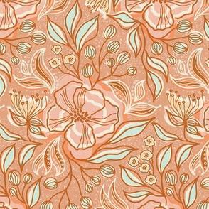 Pastel Rococo flower dream / Small scale