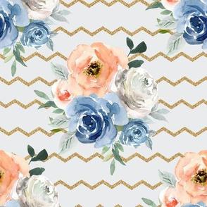 "8"" Marie's Florals in Peach"