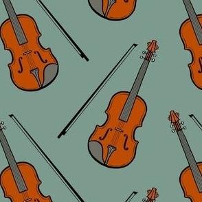 violin -  dull green