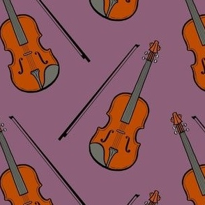 violin - purple