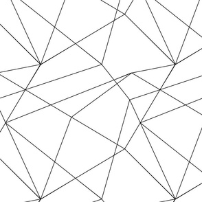 Black and White Geo Abstract Lines Seamless