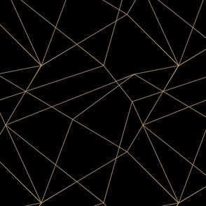 Black Gold Geo Abstract Lines Seamless