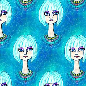 blue bob girl
