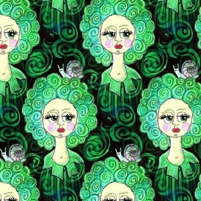 snail perm lady