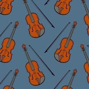 violin - dull blue