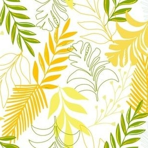 Tropical leaves Yellow