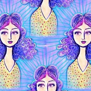 purple hair girl