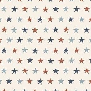 SMALL SMALL USA stars fabric - July 4 MUTED
