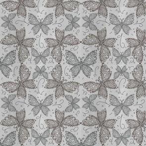 Delicate filigree butterfly