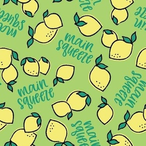 Lemon Main Squeeze - on green medium scale