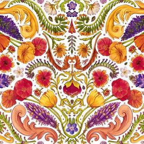 Floral Decoral - white