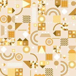 kids geometric yellow