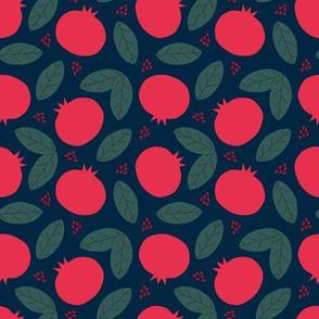 Pomegranates on Navy