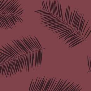 Large palm leaves minimalist tropical island vibes boho garden berry JUMBO