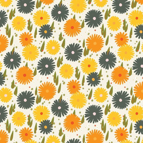 Daisy M+M Vanilla Multi Yellow Medium by Friztin