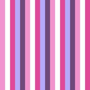 Pretty Princess Vertical Stripes
