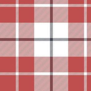"""MacRae of Conchra red tartan, 6"""" greyed"""
