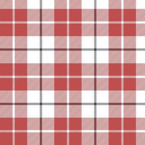 """MacRae of Conchra red tartan, 3"""" greyed"""