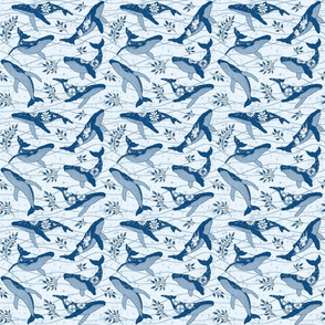 Humpback Whales in blue - Small